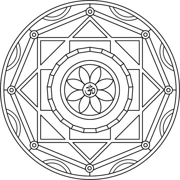 free chakra coloring pages - photo#17